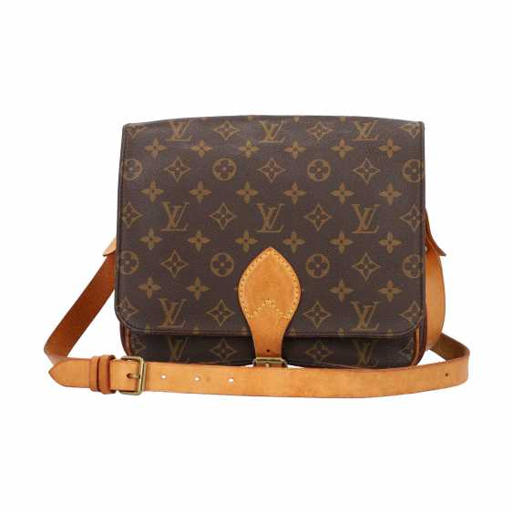 """LOUIS VUITTON VINTAGE collection. Shoulder bag """"CARTOUCHIERE"""", in the collection in 1989. - photo 1"""