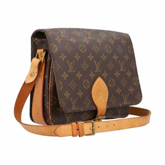 """LOUIS VUITTON VINTAGE collection. Shoulder bag """"CARTOUCHIERE"""", in the collection in 1989. - photo 2"""