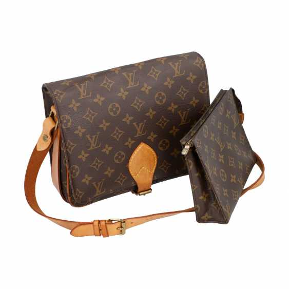 """LOUIS VUITTON VINTAGE collection. Shoulder bag """"CARTOUCHIERE"""", in the collection in 1989. - photo 5"""