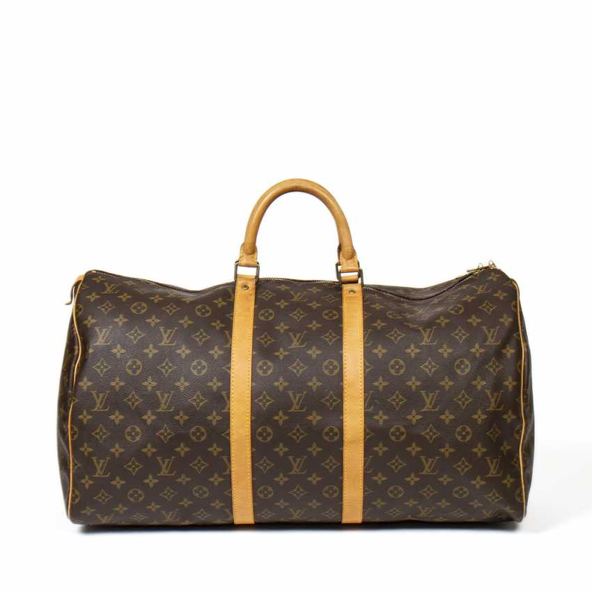 "LOUIS VUITTON weekend bag ""KEEPALL 55"", collection 1991. - photo 1"