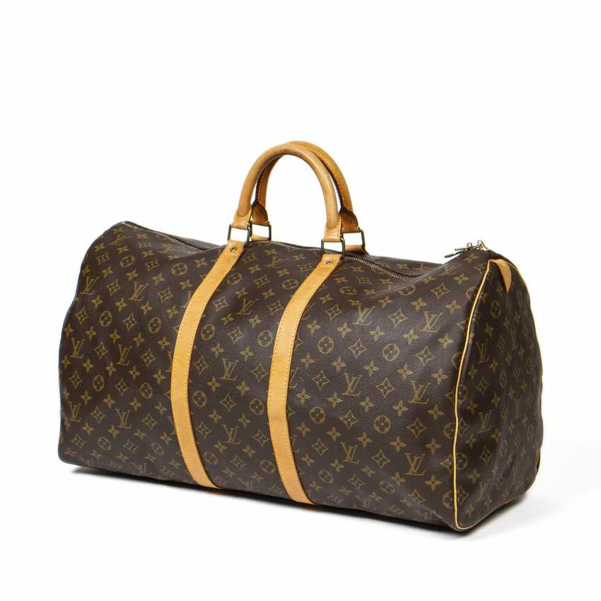 "LOUIS VUITTON weekend bag ""KEEPALL 55"", collection 1991. - photo 2"