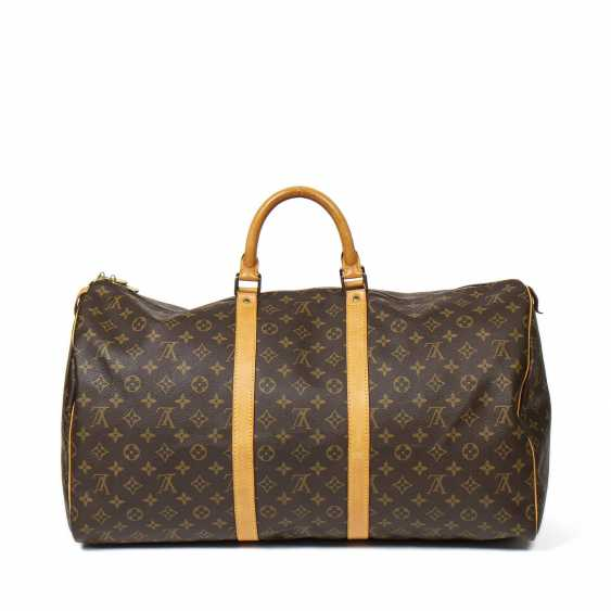 "LOUIS VUITTON weekend bag ""KEEPALL 55"", collection 1991. - photo 4"