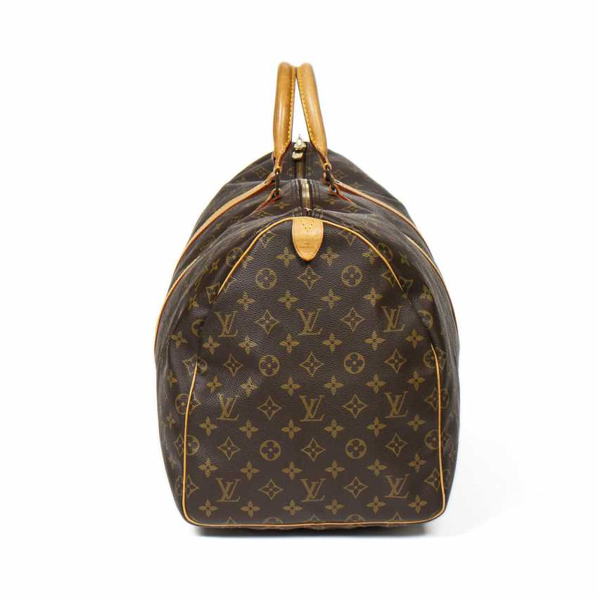"LOUIS VUITTON weekend bag ""KEEPALL 55"", collection 1991. - photo 5"