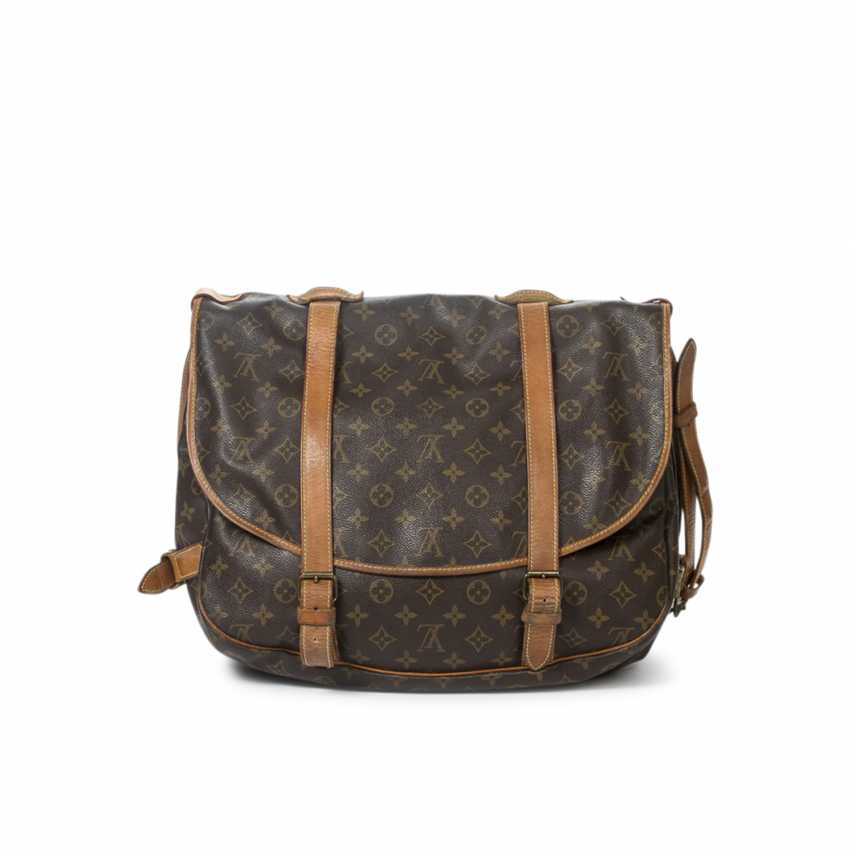 """LOUIS VUITTON VINTAGE shoulder bag """"SAUMUR DOUBLE STRAPS"""", in the collection in 1997. - photo 1"""