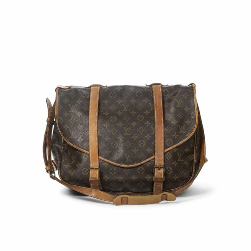 """LOUIS VUITTON VINTAGE shoulder bag """"SAUMUR DOUBLE STRAPS"""", in the collection in 1997. - photo 3"""