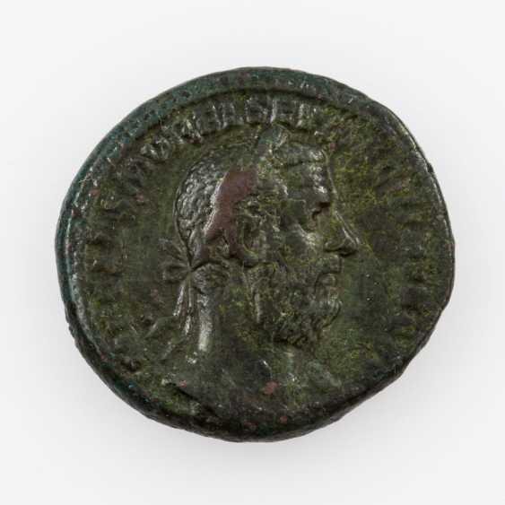 Antique/ROM. Empire, Bronze As 217 ad, Macrinus (217ñ218 n. C.), Av: Belorbeerte - photo 1