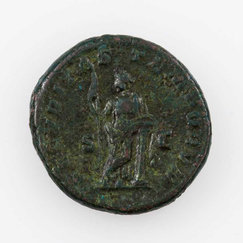Antique/ROM. Empire, Bronze As 217 ad, Macrinus (217ñ218 n. C.), Av: Belorbeerte - photo 2