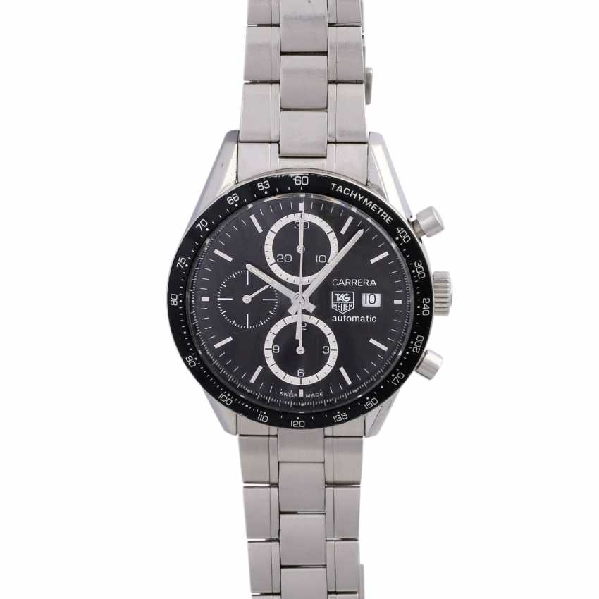 TAG HEUER Carrera Chronograph men's watch, Ref. CV 2010. Stainless steel. - photo 1