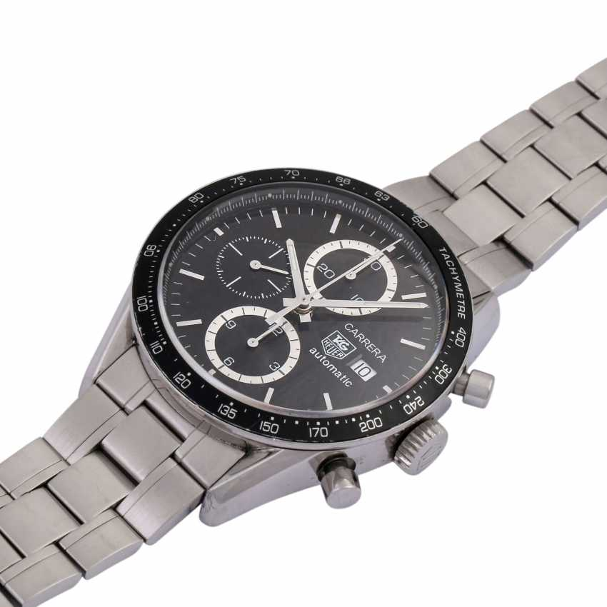 TAG HEUER Carrera Chronograph men's watch, Ref. CV 2010. Stainless steel. - photo 4