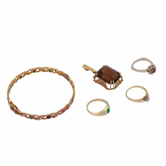 Jewelry mixed lot of 14K, 5-piece, - photo 1