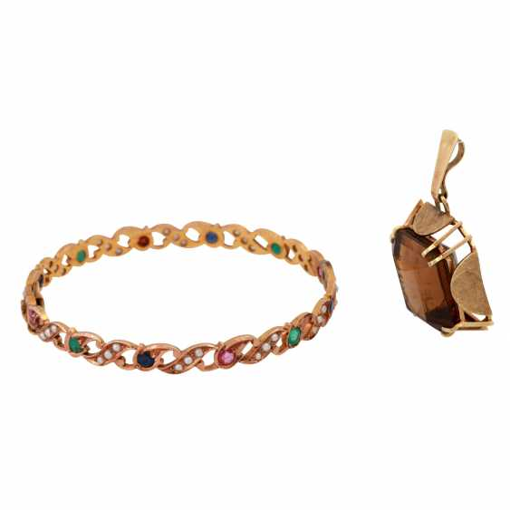 Jewelry mixed lot of 14K, 5-piece, - photo 3