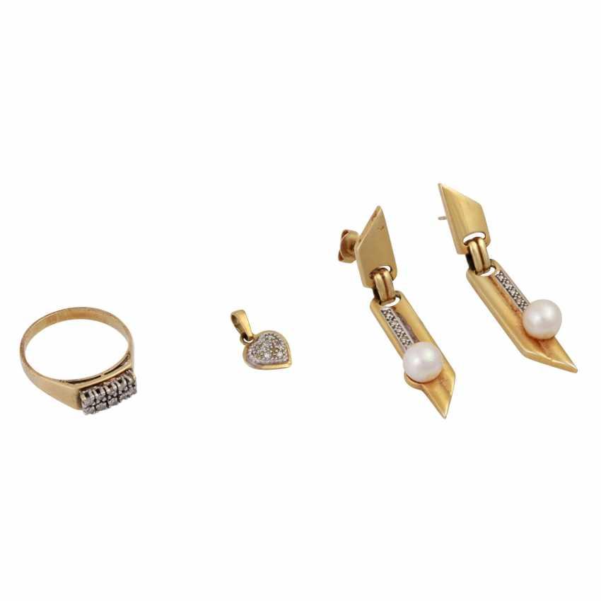Jewelry mixed lot of 14K, 5-piece, - photo 2