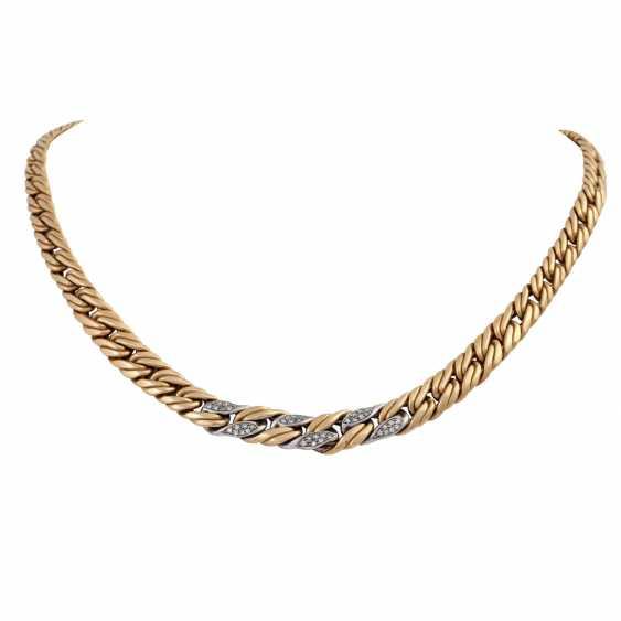 Chain, 18K gold, with stone trim, - photo 1