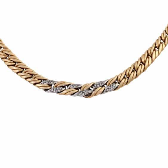 Chain, 18K gold, with stone trim, - photo 2