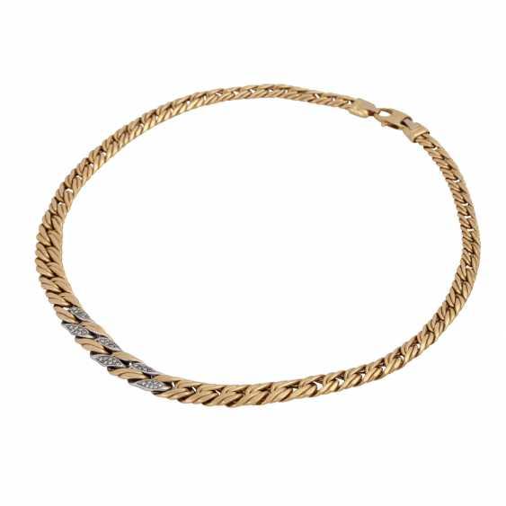 Chain, 18K gold, with stone trim, - photo 3