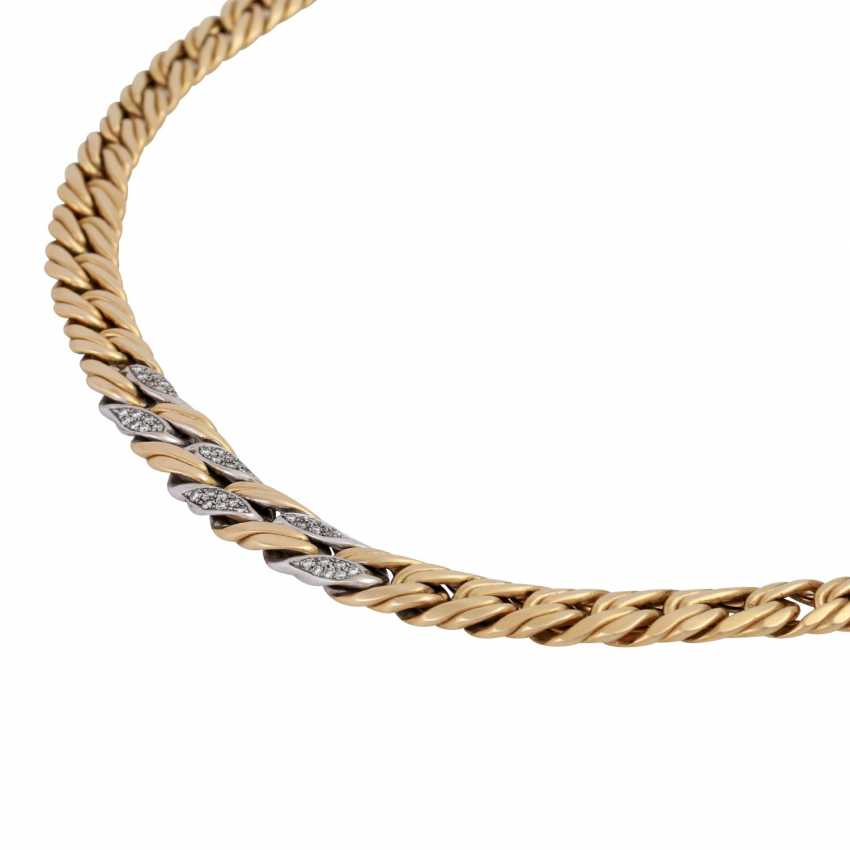 Chain, 18K gold, with stone trim, - photo 4