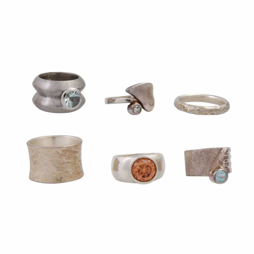 Jewelry mixed lot of silver, 8-piece, - photo 2