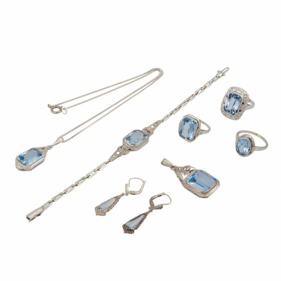 Jewelry mixed lot silver, 7-piece, - photo 1