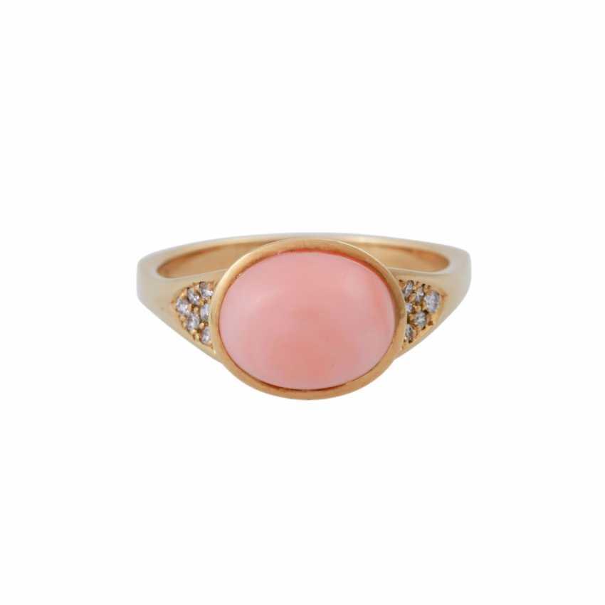 2 piece, salmon pink coral jewelry - photo 3