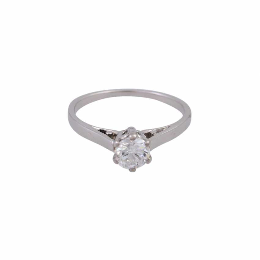 Solitaire ring with 1 diamond approx 0.5 ct - photo 1