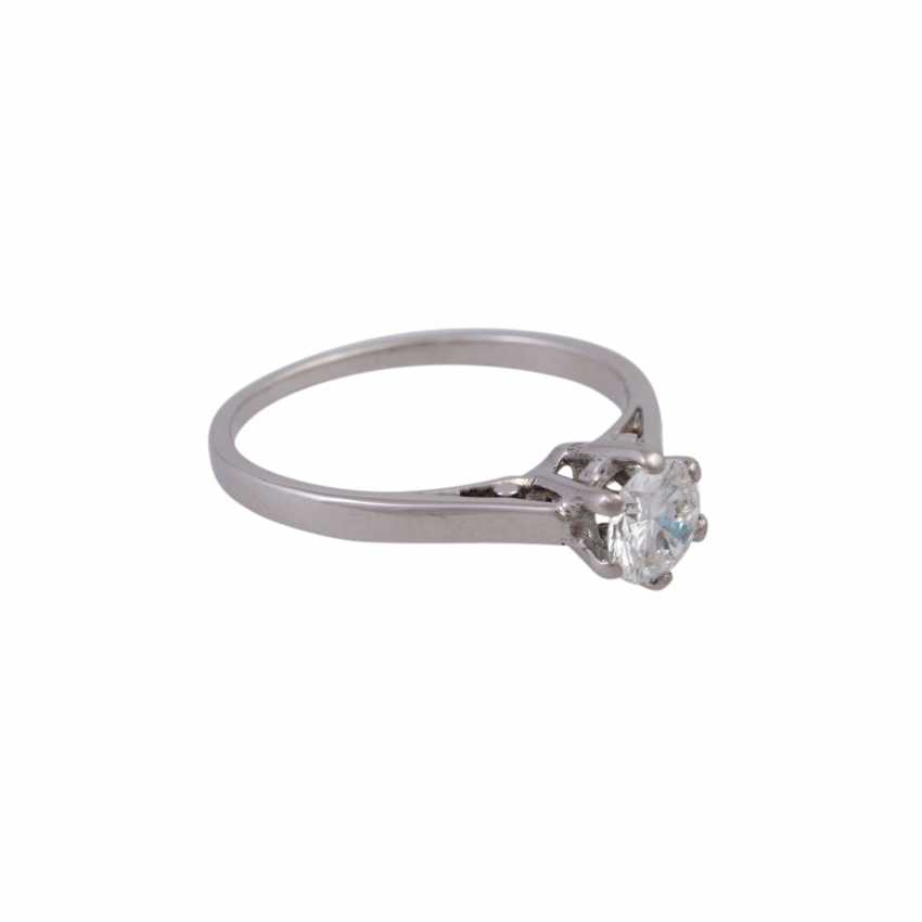 Solitaire ring with 1 diamond approx 0.5 ct - photo 2