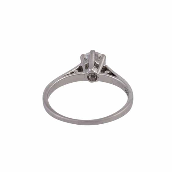 Solitaire ring with 1 diamond approx 0.5 ct - photo 4