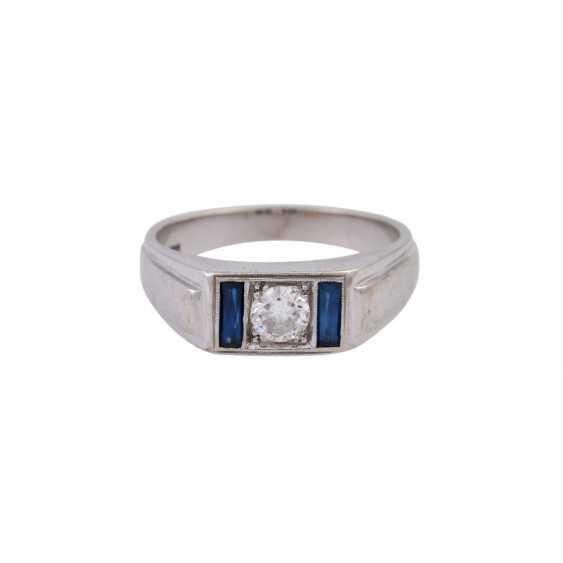 Ring mit Brillant, ca. 0,3 ct, - photo 1