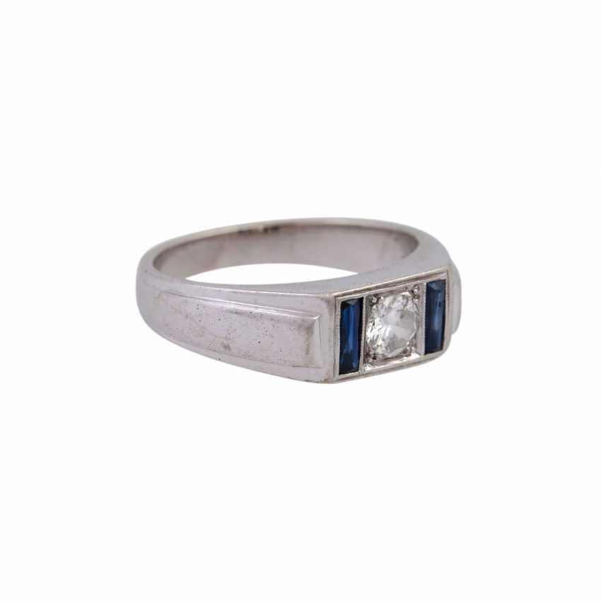 Ring mit Brillant, ca. 0,3 ct, - photo 2