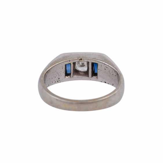 Ring mit Brillant, ca. 0,3 ct, - photo 4