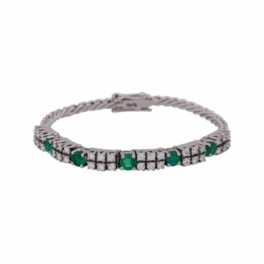 Bracelet set with 36 brilliant-cut diamonds, together approx 1,25 ct, - photo 1