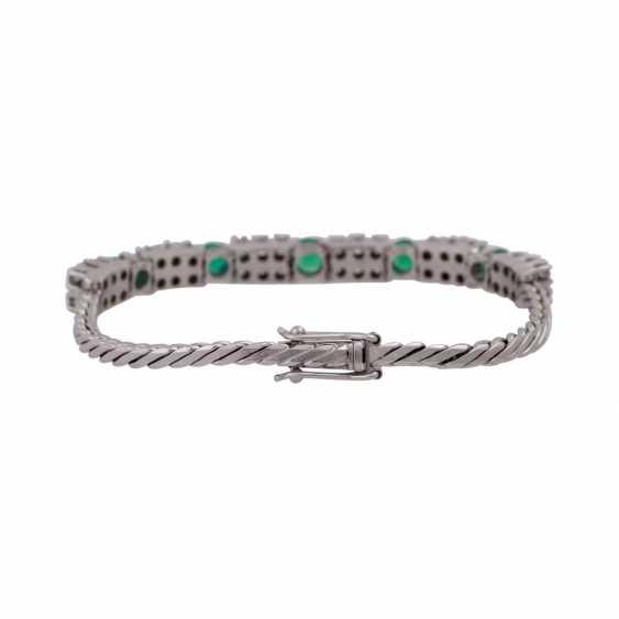Bracelet set with 36 brilliant-cut diamonds, together approx 1,25 ct, - photo 2