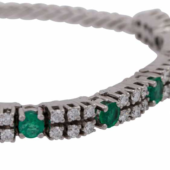 Bracelet set with 36 brilliant-cut diamonds, together approx 1,25 ct, - photo 5