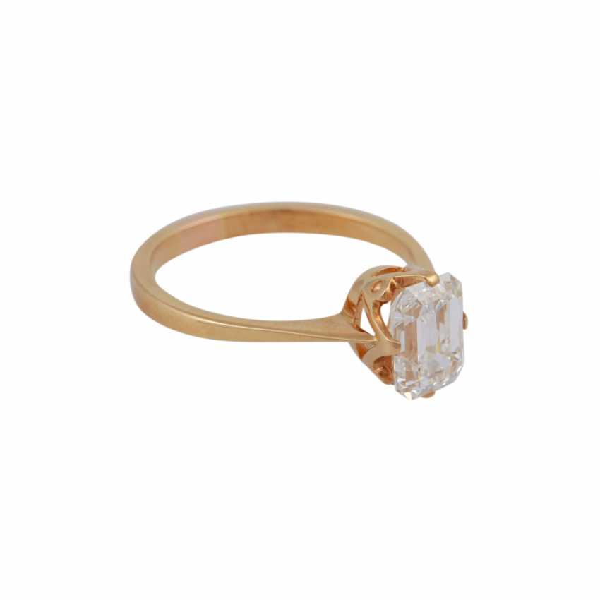 Exceptional solitaire ring, with diamond approx 1.9 ct, - photo 2