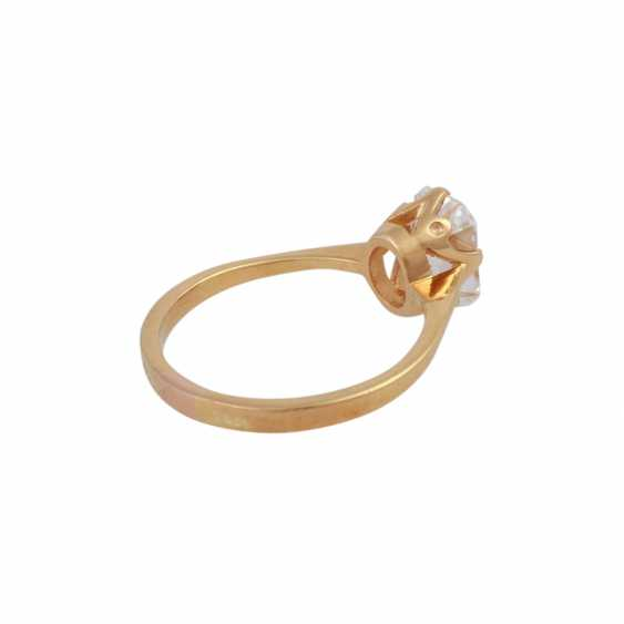 Exceptional solitaire ring, with diamond approx 1.9 ct, - photo 3