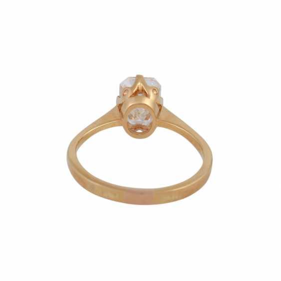 Exceptional solitaire ring, with diamond approx 1.9 ct, - photo 4
