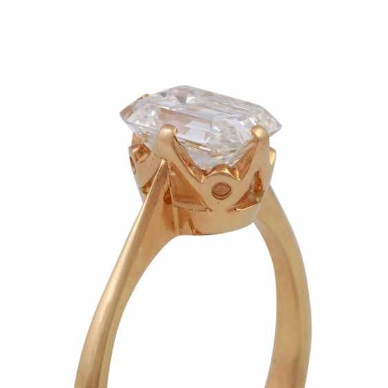 Exceptional solitaire ring, with diamond approx 1.9 ct, - photo 5