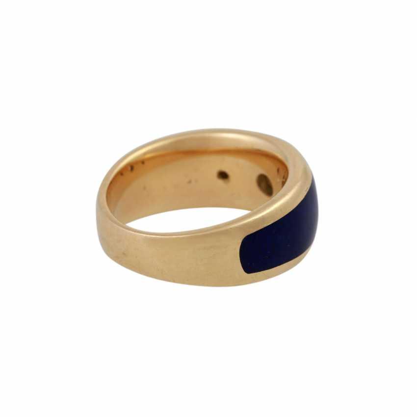 Ring with 3 brilliant-cut diamonds, 1x 0.25 ct, 2x 0.03 ct, WHITE (H)/VVS - photo 3