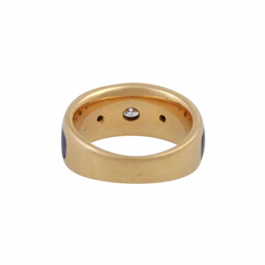Ring with 3 brilliant-cut diamonds, 1x 0.25 ct, 2x 0.03 ct, WHITE (H)/VVS - photo 4