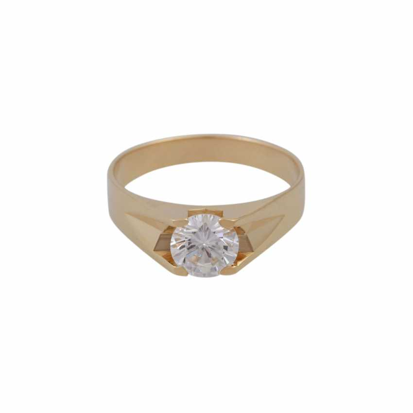 Solitaire ring with a brilliant of 1.01 ct, - photo 1