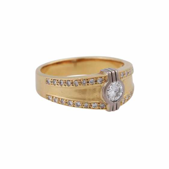 Ring with brilliant-cut diamonds, together CA. 0,55 ct - photo 2