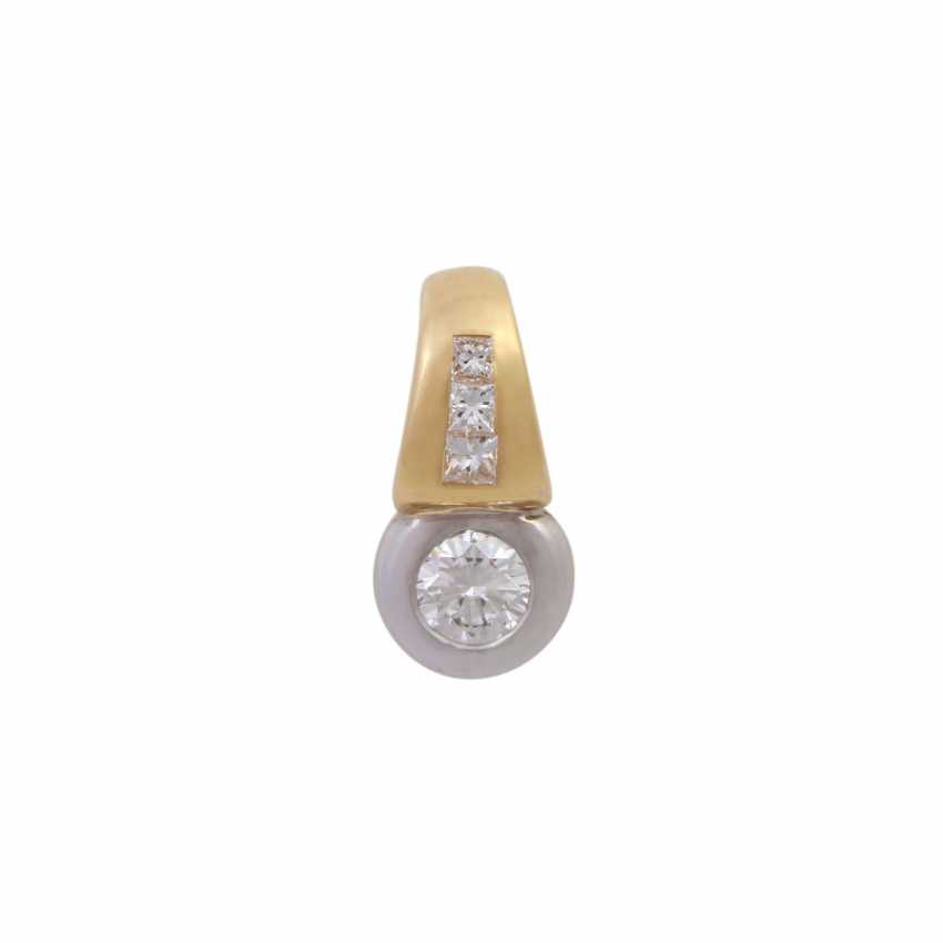 Pendant set with diamonds together approx 0,46 ct - photo 1