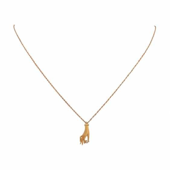 "CARRERA Y CARRERA Necklace ""Hand"" mit Gloss, square 0,02 ct, - photo 1"