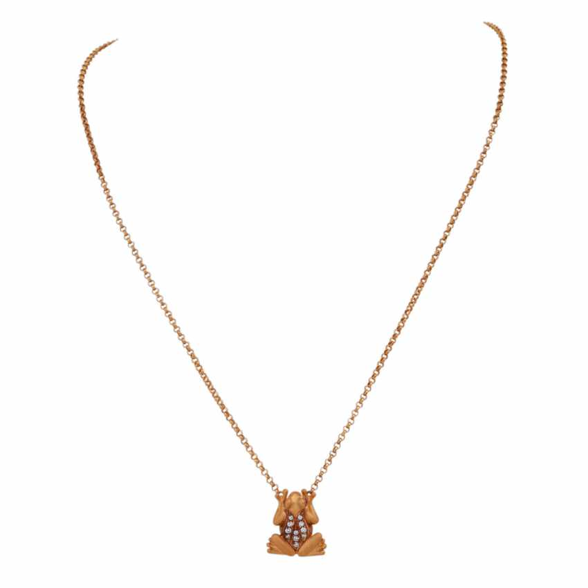 "CARRERA Y CARRERA necklace ""frog"" with diamonds, together approx. 0,15 ct - photo 1"