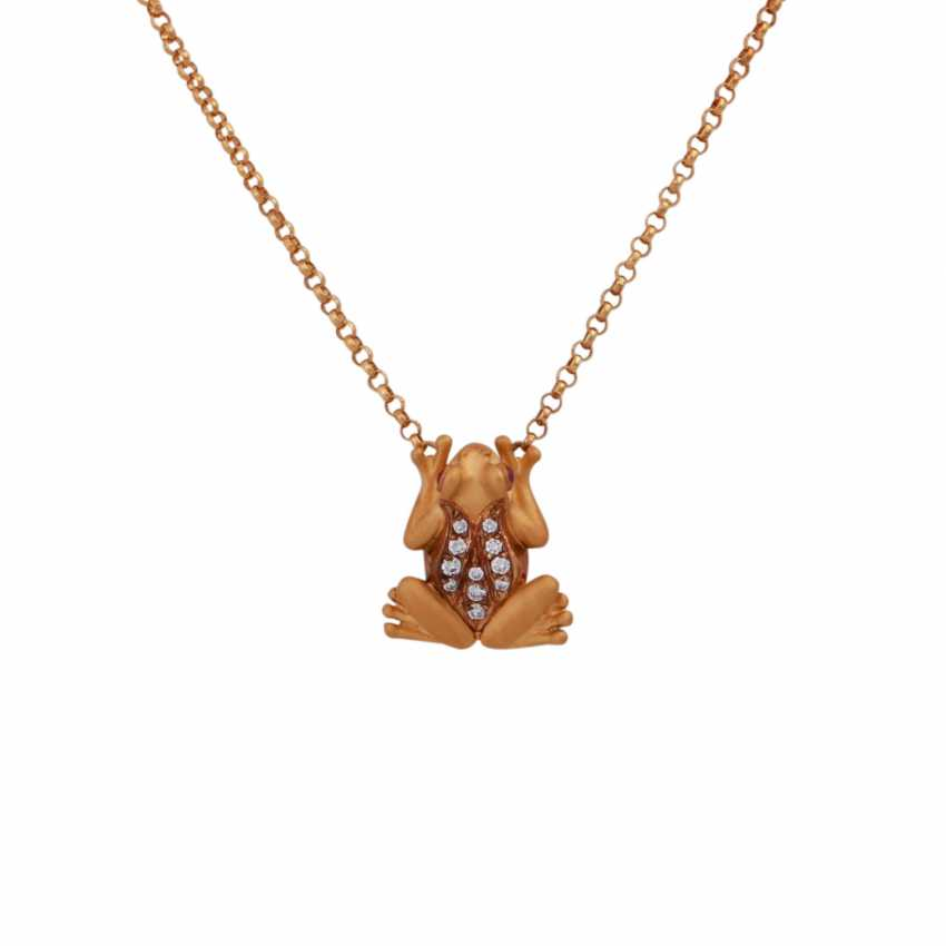 "CARRERA Y CARRERA necklace ""frog"" with diamonds, together approx. 0,15 ct - photo 2"