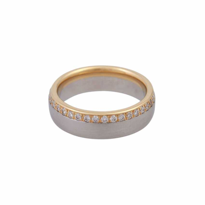 Ring, around bes. with brilliant-cut diamonds, together CA. 0,75 ct - photo 2