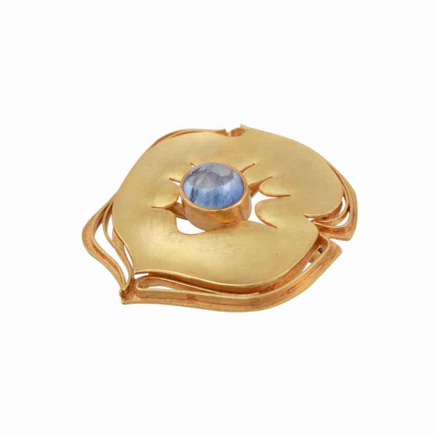 CHARLOTTE hole müller design brooch with an oval cabochon sapphire, - photo 3