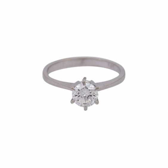 Solitaire ring with brilliant, approximately 0.7 ct, - photo 1