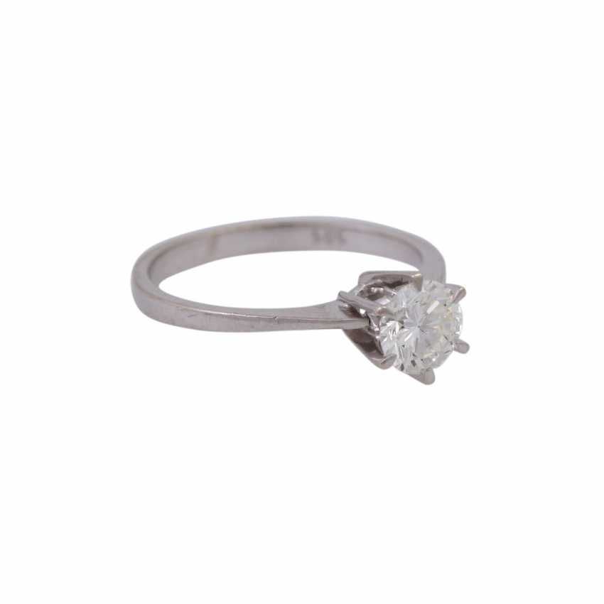 Solitaire ring with brilliant, approximately 0.7 ct, - photo 2