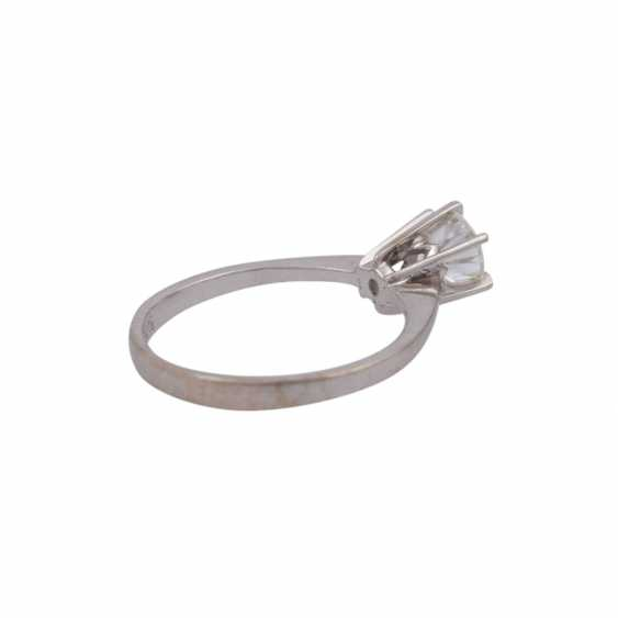 Solitaire ring with brilliant, approximately 0.7 ct, - photo 3