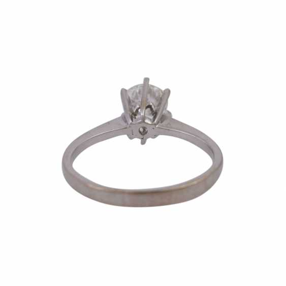 Solitaire ring with brilliant, approximately 0.7 ct, - photo 4